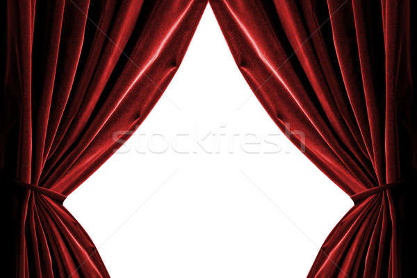 violet curtains isolated on white Stock photo © artjazz