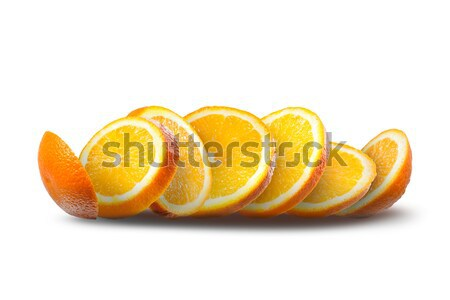 Photo stock: Relevant · tranches · orange · blanche · isolé · alimentaire