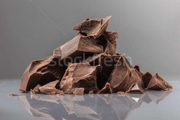 Stock fotó: Darabok · tej · csokoládé · fehér · bár · fekete
