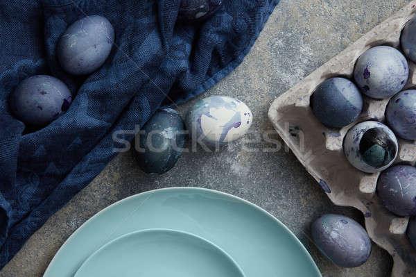 Handmade easter eggs Stock photo © artjazz