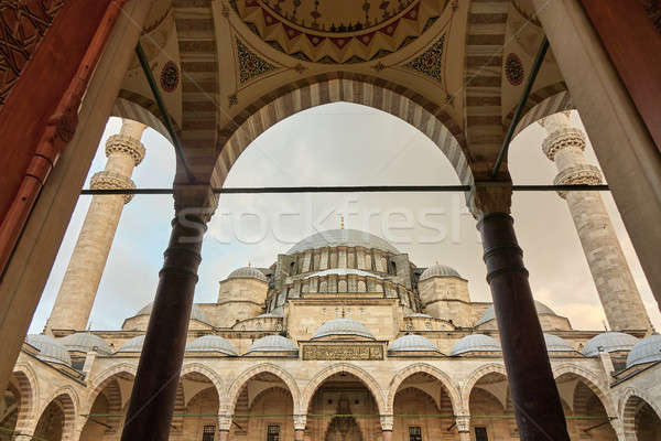 The view of Suleymaniye Mosque, Istanbul, Turkey Stock photo © artjazz