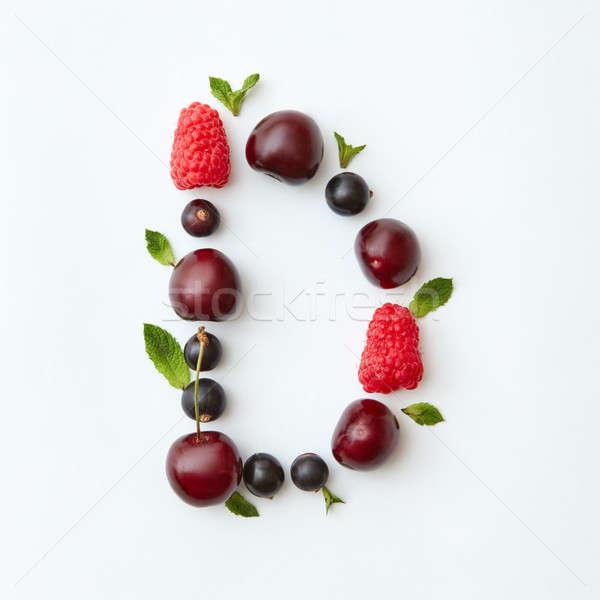 Nyár színes minta d betű angol ábécé Stock fotó © artjazz