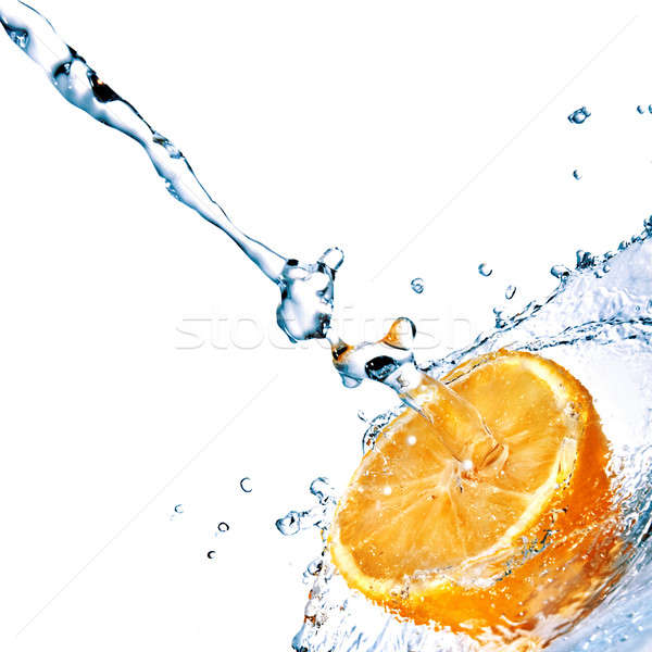 Stok fotoğraf: Tatlısu · damla · turuncu · yalıtılmış · beyaz · gıda