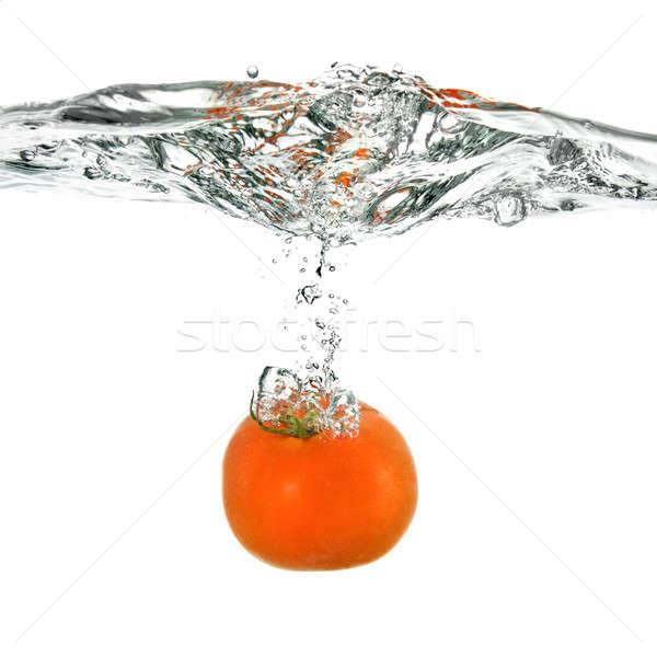 Kırmızı domates su yalıtılmış beyaz gıda Stok fotoğraf © artjazz