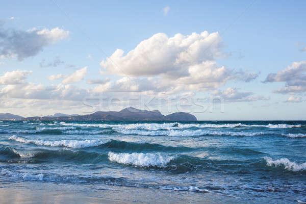 Golven strand kan majorca eilanden Spanje Stockfoto © artjazz