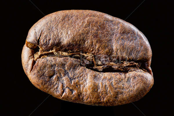 Coffee bean isolated on black background Stock photo © artjazz