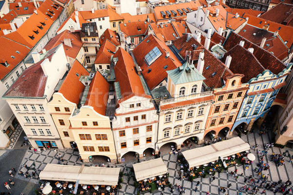 Houses with traditional red roofs Stock photo © artjazz