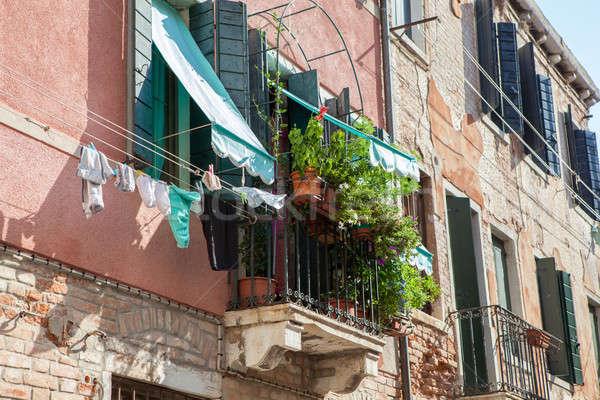 ベニスの 建物 イタリア サークル バルコニー 1 ストックフォト © artjazz