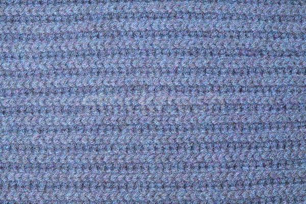 Textura azul lana de punto tejido patrón Foto stock © artjazz