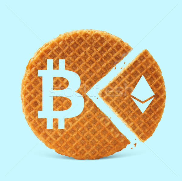 icons of bitcoin and etherium Stock photo © artjazz