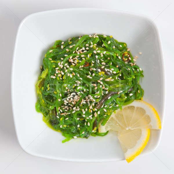 Japán hínár saláta fehér szezám mártás Stock fotó © artjazz