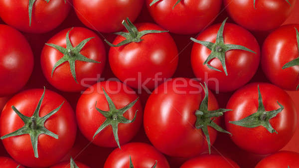 red tomatoes background. top view Stock photo © artjazz