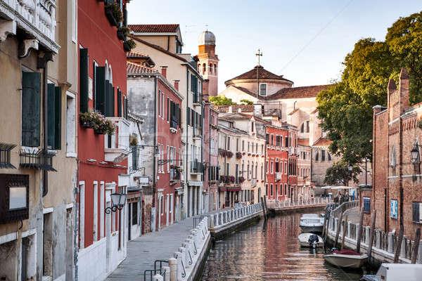 Canal Venise belle classique bâtiments Italie Photo stock © artjazz