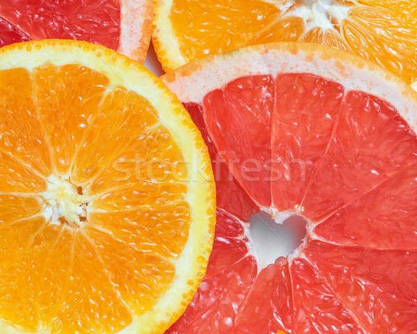 Stock photo: background with citrus-fruit of Fresh  slices