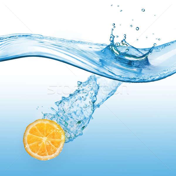 Pomarańczowy odizolowany biały pomarańczowy plasterka streszczenie Zdjęcia stock © artjazz