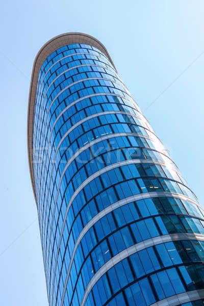 Costruzione Bruxelles ovale vetro edificio per uffici Foto d'archivio © artjazz