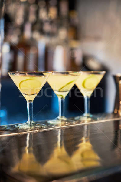 Cocktails on the bar counter Stock photo © artjazz