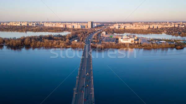 Ucrania panorama puente río norte coche Foto stock © artjazz