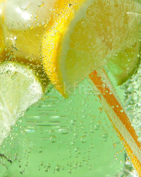 Fraîches limonade glace tranches Photo stock © artjazz