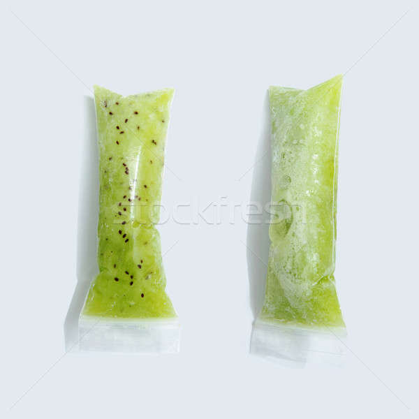 緑 キウイ アイスクリーム 真空 プラスチック グレー ストックフォト © artjazz