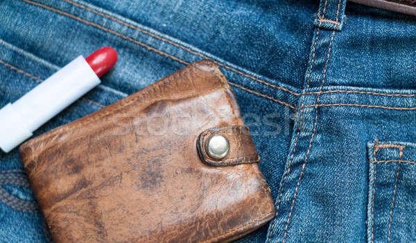 джинсов наличных помада фото старые Сток-фото © Artlover