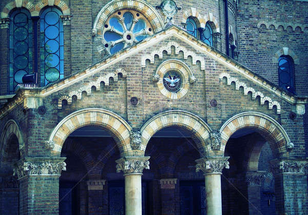 Gothic facade Stock photo © Artlover