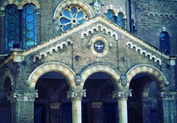 Gotischen Fassade Foto Kathedrale Stadt Westminster Stock foto © Artlover