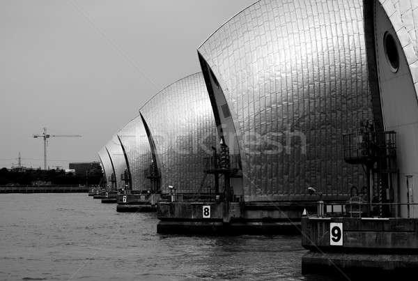 Temze feketefehér fotó London víz város Stock fotó © Artlover
