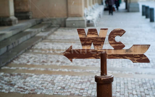 WC sign Stock photo © Artlover