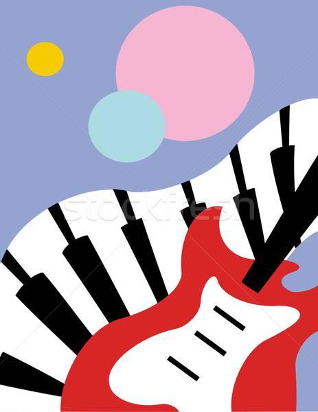 Stockfoto: Muziek · eenvoudige · abstract · illustratie · partij · dans