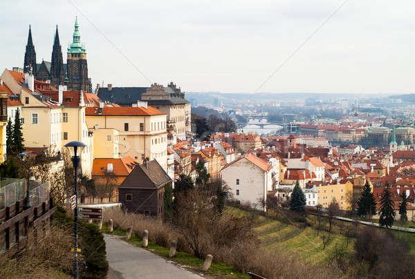 Vecchio Praga view giorno castello città Foto d'archivio © Artlover