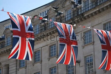 Stok fotoğraf: Sendika · iki · İngiliz · bayrağı · bayraklar · diğer · Londra