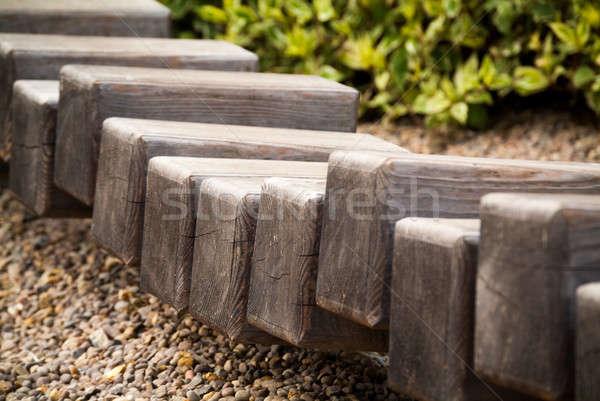 Rij weinig pad lokaal park Stockfoto © Artlover