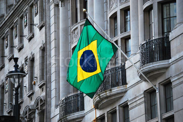 Brazilian flag Stock photo © Artlover