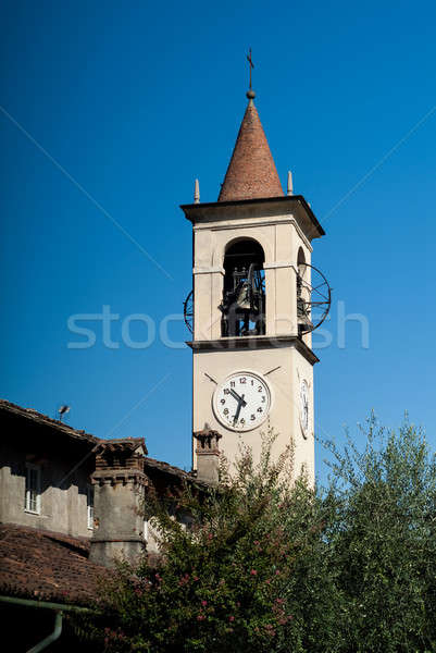 Bell Tower in Abbadia Lariana Stock photo © Artlover