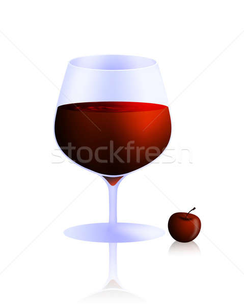 Cam şarap cazip küçük kiraz Stok fotoğraf © Artlover