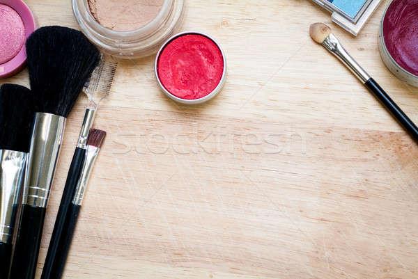 Make-up colorido superfície madeira Foto stock © Artlover