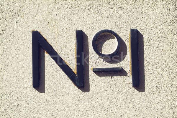 фото знак песчаный стены бизнеса Сток-фото © Artlover