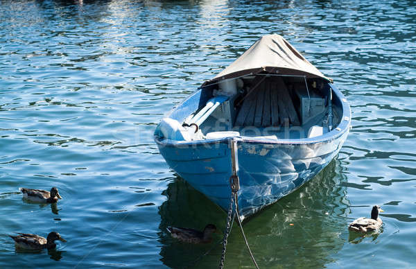 синий озеро лодка фото природы лет Сток-фото © Artlover