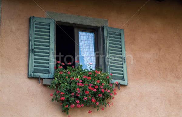 çiçekler pencere fotoğraf geleneksel İtalyan Stok fotoğraf © Artlover