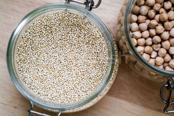 Quinoa and chickpeas Stock photo © Artlover