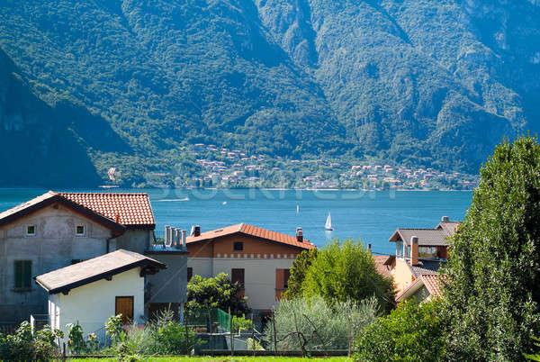 Meer weinig Italiaans stad water Stockfoto © Artlover