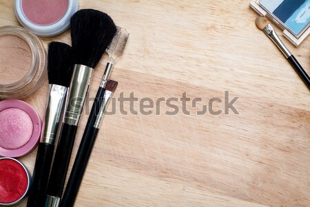 Maquillage photo bois surface Photo stock © Artlover