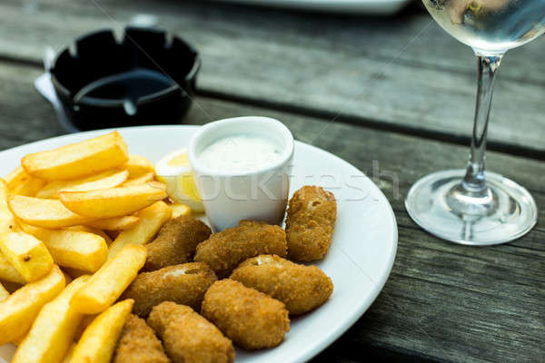 Scampi and Chips Stock photo © Artlover