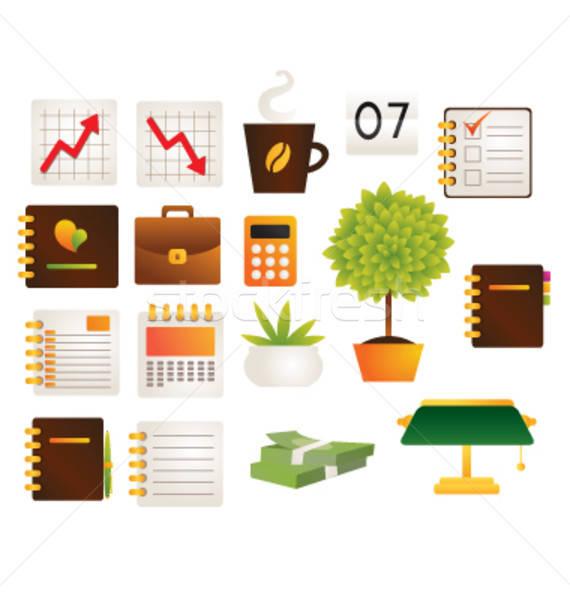 Kantoor objecten collectie leven financieren papier Stockfoto © Artlover