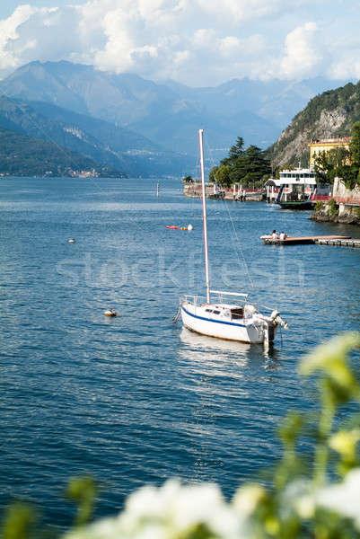 озеро лодка белый север Италия пейзаж Сток-фото © Artlover