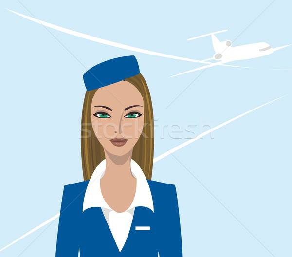 Air hostess Stock photo © Artlover