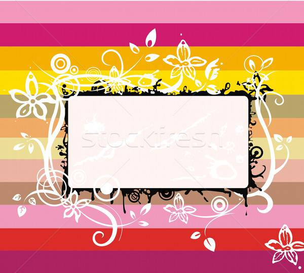 радуга кадр красочный Элементы цветок Сток-фото © Artlover