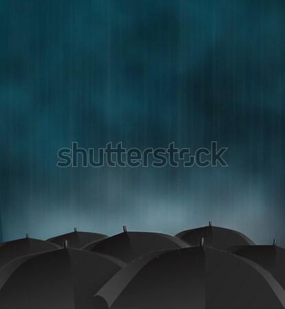 дождливый день мрачный фотография темно небе Сток-фото © Artlover
