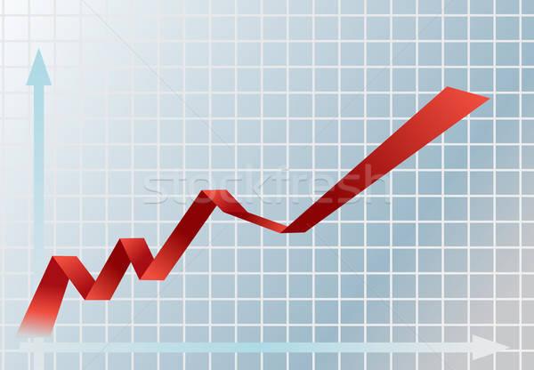финансовых графа фотография бизнеса Финансы Сток-фото © Artlover